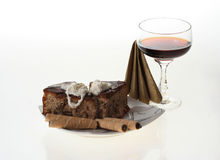 Torta y café Imagenes de archivo