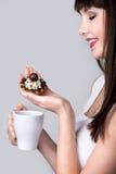 Torta y café agrios Imagen de archivo libre de regalías