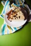 Torta y café de la vainilla imagen de archivo libre de regalías