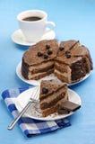 Torta y café hechos en casa de chocolate Imagenes de archivo