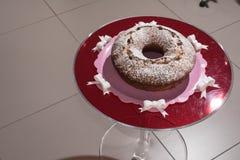 Torta y el vino espumoso Asti Imagen de archivo