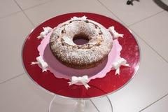 Torta y el vino espumoso Asti Fotografía de archivo