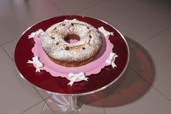 Torta y el vino espumoso Asti Fotos de archivo