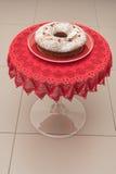 Torta y el vino espumoso Asti Foto de archivo libre de regalías