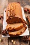Torta y especia del pan de jengibre imagen de archivo libre de regalías