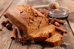 Torta y especia del pan de jengibre imagen de archivo