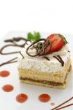 Torta y fresa Imágenes de archivo libres de regalías