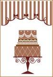 Torta y partido grandes de cumpleaños Fotografía de archivo