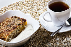 Torta y té Imagenes de archivo