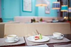 Torta y té Fotografía de archivo