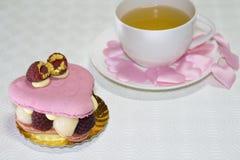 Torta y té Fotos de archivo