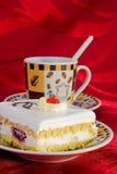 Torta y taza del coffe Imagen de archivo libre de regalías