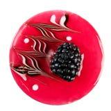 Torta, zarzamora, backgr delicioso, hermoso, fresco, rojo, blanco Foto de archivo