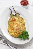Tortang talong, eggplant omelet, filipino food Stock Photography