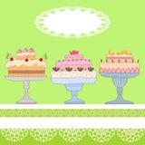 tortas Fotografía de archivo libre de regalías