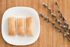 Tortas apetitosas rubicundas Fotos de archivo libres de regalías