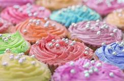 Tortas coloridas Fotografía de archivo