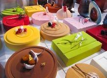 Tortas coloridas Imagen de archivo libre de regalías