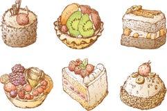 Tortas con la fruta Imagen de archivo libre de regalías