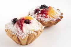 Tortas da fruta Imagem de Stock