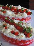 Tortas da morango Foto de Stock Royalty Free