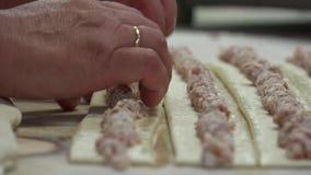 Tortas da padaria e de carne video estoque
