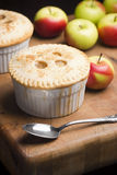 Tortas de Apple individuais diminutas foto de stock royalty free