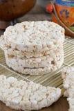 Tortas de arroz Imágenes de archivo libres de regalías