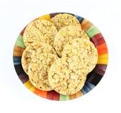Tortas de arroz de arriba de la visión Imagen de archivo libre de regalías