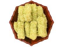 Tortas de arroz dulces tradicionales coreanas Foto de archivo