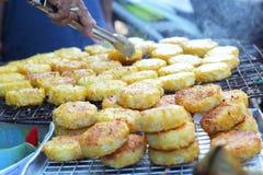 Tortas de arroz en Asia - la comida de Asia Fotografía de archivo