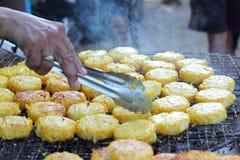 Tortas de arroz en Asia - la comida de Asia Fotos de archivo