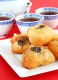 Tortas de arroz frito del chino Imagen de archivo libre de regalías