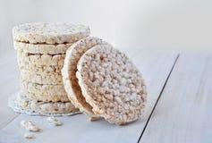 Tortas de arroz redondas Fotografía de archivo libre de regalías