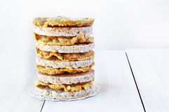 Tortas de arroz redondas y tortas de maíz Imagen de archivo libre de regalías