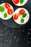 Tortas de arroz sanas Imágenes de archivo libres de regalías