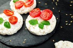 Tortas de arroz sanas Fotos de archivo libres de regalías