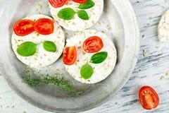 Tortas de arroz sanas Foto de archivo libre de regalías