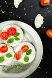 Tortas de arroz sanas Imagen de archivo