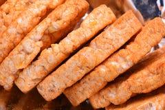Tortas de arroz sopladas Fotografía de archivo libre de regalías