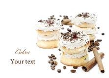 Tortas de café Foto de archivo
