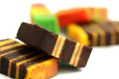 Tortas de capa coloridas Imagen de archivo libre de regalías