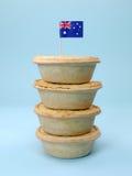 Tortas de carne australianas imagens de stock