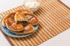 Tortas de carne caseiros ucranianas em uma placa Imagens de Stock Royalty Free
