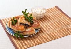 Tortas de carne caseiros ucranianas em uma placa Imagem de Stock