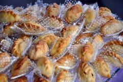Tortas de carne de Saltena ou de Salta Fotografia de Stock Royalty Free