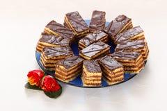 Tortas de chocolate Fotografía de archivo libre de regalías