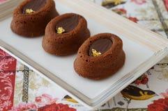 Tortas de chocolate Imágenes de archivo libres de regalías