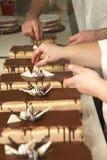 Tortas de chocolate Foto de archivo libre de regalías