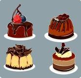 Tortas de chocolate Foto de archivo